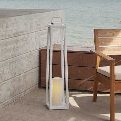 Redvale Battery Powered LED Outdoor Lantern with Electric Candle - Birch Lane