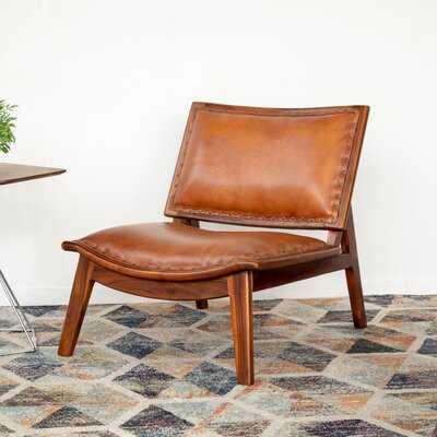 "Bruder 25"" W Genuine Leather Lounge Chair - Wayfair"