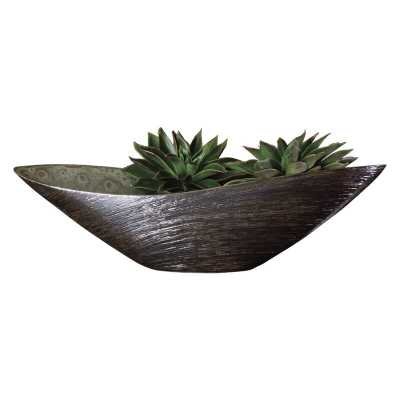 Oval Traditional Decorative Bowl in Spun Bronze - Perigold