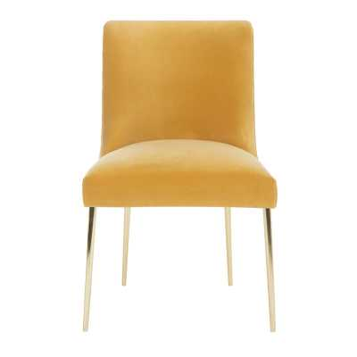 Safavieh Couture Nolita Upholstered Dining Chair Upholstery Color: Mustard - Perigold