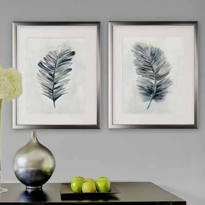 Soft Feathers Framed Print Set - Birch Lane