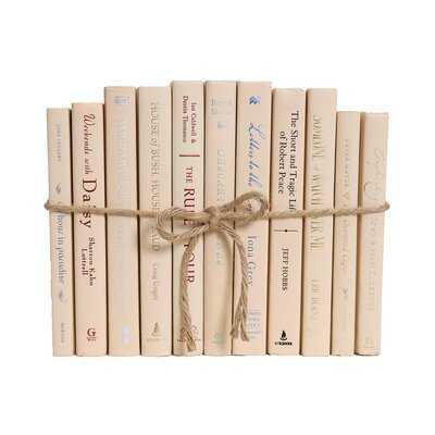 12 Piece Limited Authentic Decorative Book Set - Birch Lane