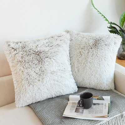 Luxury Soft Square Faux Fur Pillow Cover - Wayfair