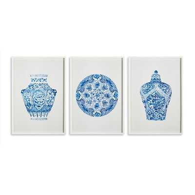 'Dynasty Prints' - 3 Piece Picture Frame Print Set - Birch Lane