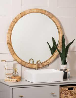 Neomie Wall Mirror, Rattan - Lulu and Georgia