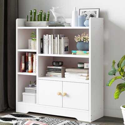 Combination Bookcase With Door - Wayfair