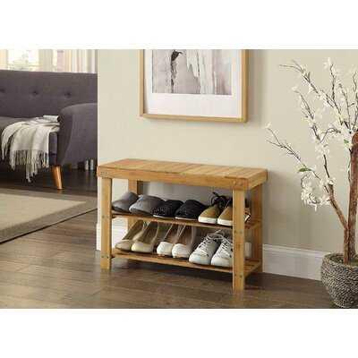 Florez Wood Storage Bench - Wayfair