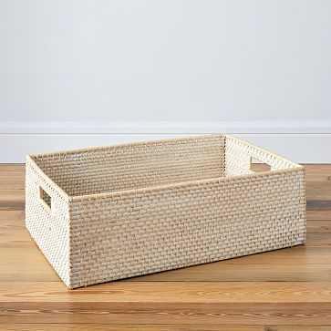 Modern Weave, Underbed Basket, Whitewash, Set of 2 - West Elm