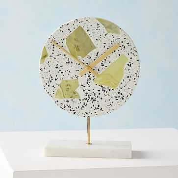 Deco Clock Speckled Stone Green - West Elm
