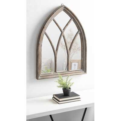 Airlia Wood Framed Arch Mirror 22X29 Rustic Brown - Wayfair