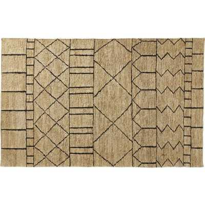 Istana Patterned Jute Rug 5'x8' - CB2