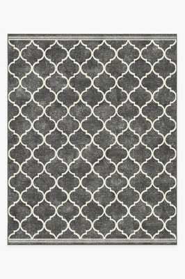 Washable Rug Cover & Pad | Terali Black Rug | Stain-Resistant | Ruggable | 8'x10' - Ruggable