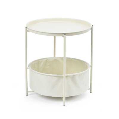 Adèle Tray Top Cross Legs End Table with Storage - Wayfair