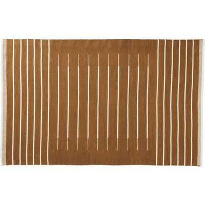 Copper with White Stripe Rug 5'x8' - CB2