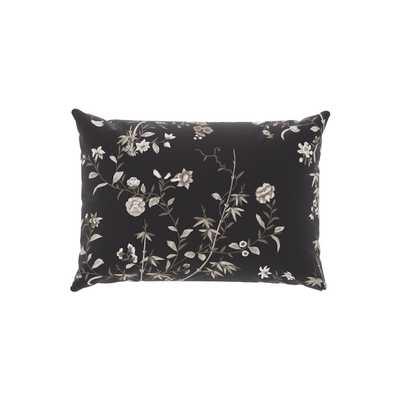 Outdoor Lumbar Pillow   Black Bamboo Garden - The Inside