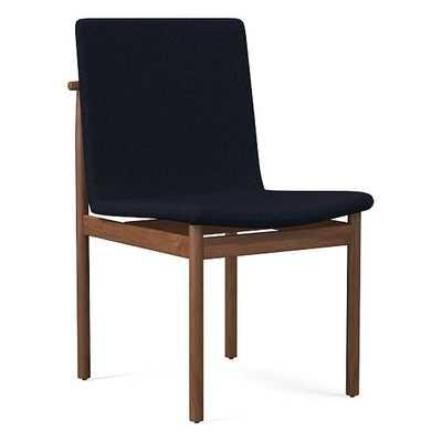 Framework Dining Chair, Twill, Black, Indigo - West Elm