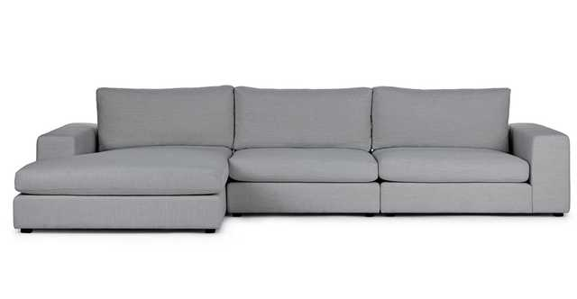 Beta Summit Gray Left Chaise Sectional - Article
