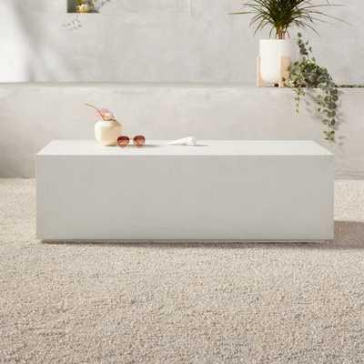 White Concrete Coffee Table - CB2