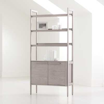 Tate Stone Bookcase Cabinet - Crate and Barrel
