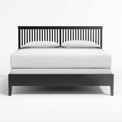 Village Bruno Black King Bed - Crate and Barrel