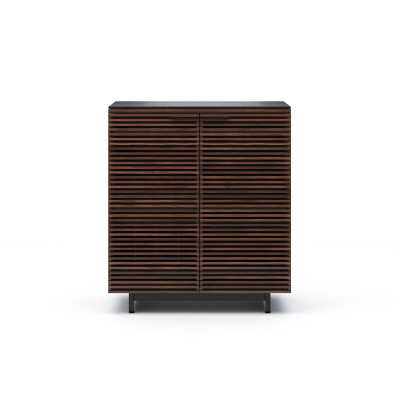 BDI Corridor Bar with Wine Storage Color: Chocolate Stained Walnut - Perigold