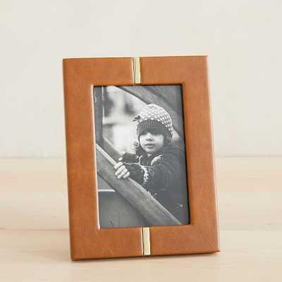 Anders Frames, Frame, Old Saddle Nut, Leather, 4x6 - West Elm