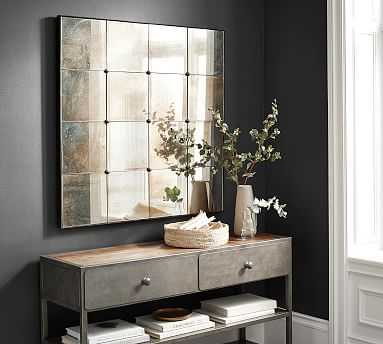"Markle Antiqued Mirror, 40.5"" x 40.5"" - Pottery Barn"