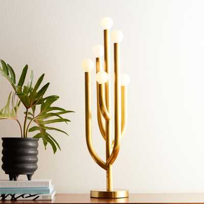 Cacti Glow Brass Table Lamp - CB2