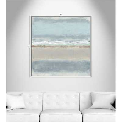 """Casa Fine Arts Serenity 2 - Floater Frame Painting on Canvas Frame Color: White Framed, Size: 45"""" H x 45"""" W x 2"""" D - Perigold"""