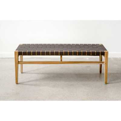"""From the Source Grasshopper Solid Wood Bench Color: Gray, Size: 17.5"""" H x 46"""" W x 14"""" D - Perigold"""