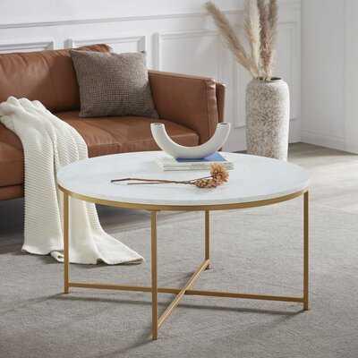 Sezis Cross Legs Coffee Table - Wayfair