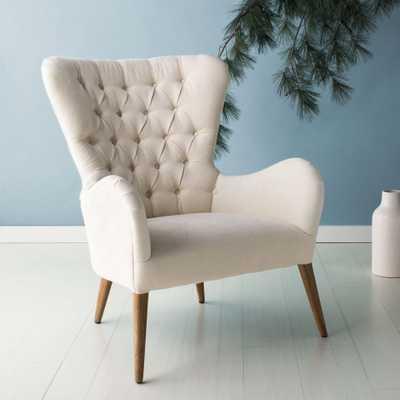 Brayden Contemporary Wingback Chair - Off White - Arlo Home - Arlo Home