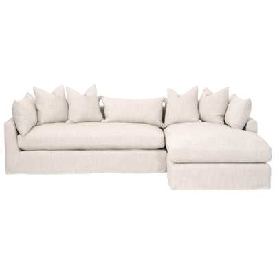 "Haven 110"" RF Lounge Slipcover Sofa - Alder House"