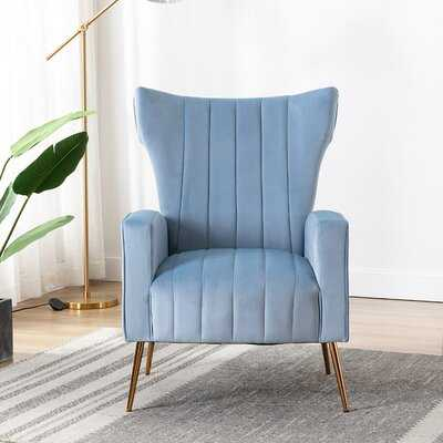 "Brutus 27.6"" W Velvet Wingback Chair - Wayfair"