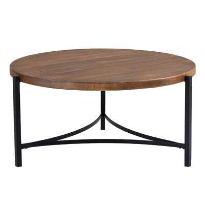 Round Coffee Table Industrial Style - Wayfair