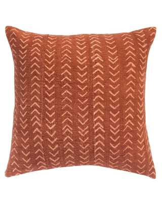 arrows mud cloth pillow in faded rust - with insert - PillowPia