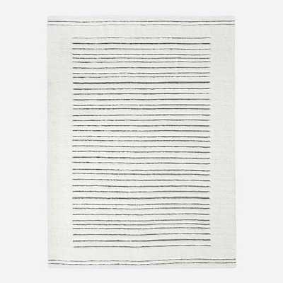 Banded Shag Rug, 6'x9', Ivory - West Elm