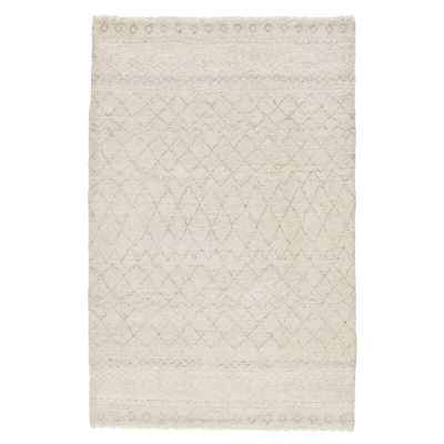 Jaipur Living Bernhard Hand-Knotted Geometric White/ Gray Area Rug (2'X3') Rug Size: Rectangle 2' x 3' - Perigold