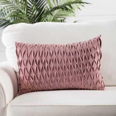 Ebern Designs Sonali Pink Solid Poly Throw Pillow 14X20 Inch - Wayfair