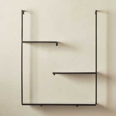 Spirit Gunmetal Floating Ladder Shelf - CB2