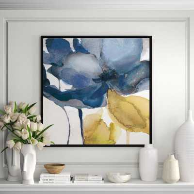 JBass Grand Gallery Collection 'Blue Note II' Framed Print Painting on Canvas - Perigold