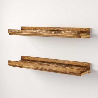 Tishie Floating 2 Pieces Wall Shelf Set - AllModern