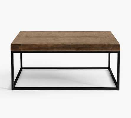 Malcolm Square Coffee Table, Glazed Pine - Pottery Barn