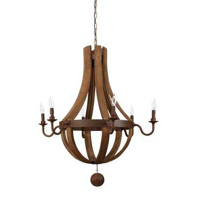 6-Light Candle-Style Chandelier - Wayfair
