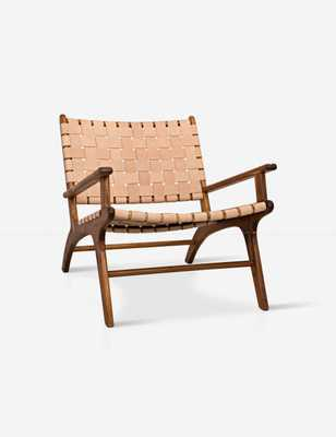 Jaslene Woven Leather Chair - Lulu and Georgia
