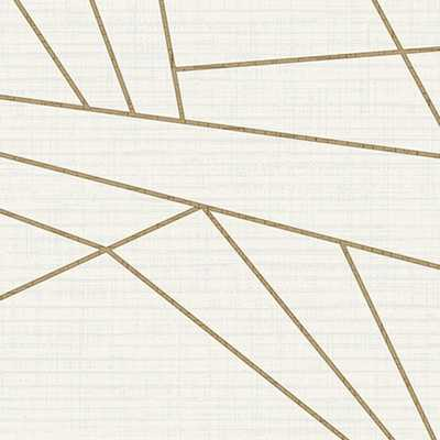 Walls Republic White & Gold Sharp Geometry - Home Depot