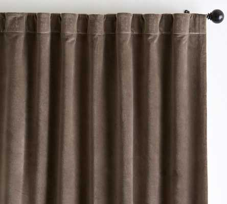 "Velvet Twill Curtain, 50 x 108"", Cappuccino - Pottery Barn"