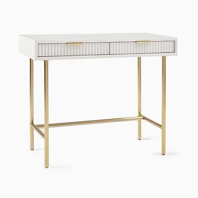 We Quinn Collection Haze/Antique Brass Mini Desk - West Elm