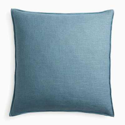 """Classic Linen Pillow Cover, 24""""x24"""", Ocean - West Elm"""