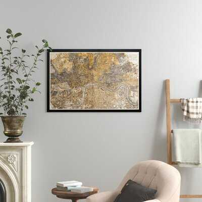 'London 1883 Map' Picture Frame Graphic Art - Birch Lane